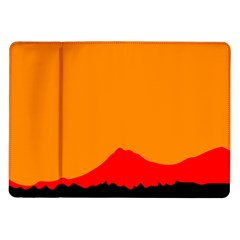 Mountains Natural Orange Red Black Samsung Galaxy Tab 10 1  P7500 Flip Case