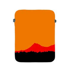 Mountains Natural Orange Red Black Apple Ipad 2/3/4 Protective Soft Cases