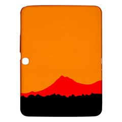 Mountains Natural Orange Red Black Samsung Galaxy Tab 3 (10 1 ) P5200 Hardshell Case
