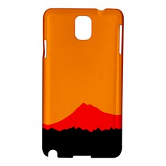Mountains Natural Orange Red Black Samsung Galaxy Note 3 N9005 Hardshell Case by Mariart