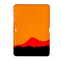 Mountains Natural Orange Red Black Samsung Galaxy Tab 2 (10 1 ) P5100 Hardshell Case