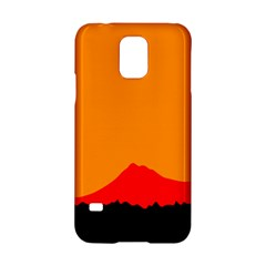 Mountains Natural Orange Red Black Samsung Galaxy S5 Hardshell Case