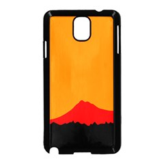 Mountains Natural Orange Red Black Samsung Galaxy Note 3 Neo Hardshell Case (black)