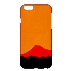 Mountains Natural Orange Red Black Apple Iphone 6 Plus/6s Plus Hardshell Case by Mariart