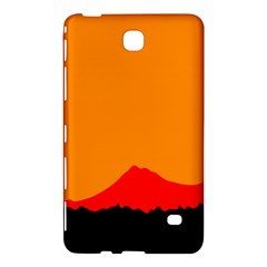 Mountains Natural Orange Red Black Samsung Galaxy Tab 4 (8 ) Hardshell Case  by Mariart