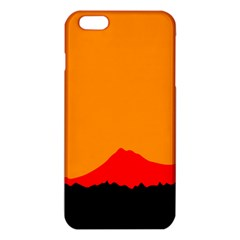 Mountains Natural Orange Red Black Iphone 6 Plus/6s Plus Tpu Case