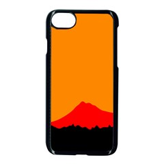 Mountains Natural Orange Red Black Apple Iphone 7 Seamless Case (black)