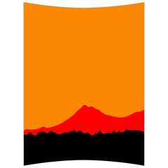 Mountains Natural Orange Red Black Back Support Cushion