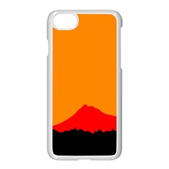 Mountains Natural Orange Red Black Apple Iphone 8 Seamless Case (white)