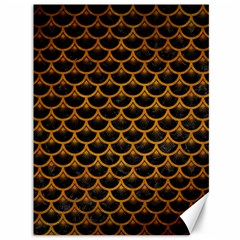 Scales3 Black Marble & Yellow Grunge (r) Canvas 36  X 48   by trendistuff