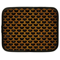 Scales3 Black Marble & Yellow Grunge (r) Netbook Case (xxl)  by trendistuff