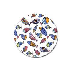 Love Fish Seaworld Swim Rainbow Cartoons Magnet 3  (round)