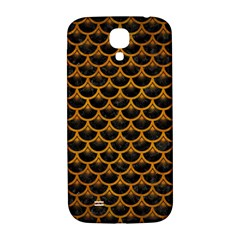 Scales3 Black Marble & Yellow Grunge (r) Samsung Galaxy S4 I9500/i9505  Hardshell Back Case by trendistuff