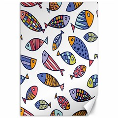 Love Fish Seaworld Swim Rainbow Cartoons Canvas 12  X 18