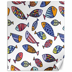 Love Fish Seaworld Swim Rainbow Cartoons Canvas 16  X 20