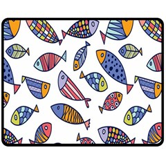 Love Fish Seaworld Swim Rainbow Cartoons Fleece Blanket (medium)