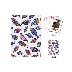 Love Fish Seaworld Swim Rainbow Cartoons Playing Cards (mini)  by Mariart