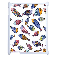 Love Fish Seaworld Swim Rainbow Cartoons Apple Ipad 2 Case (white)