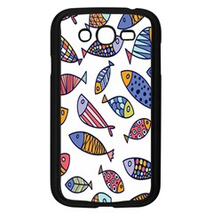 Love Fish Seaworld Swim Rainbow Cartoons Samsung Galaxy Grand Duos I9082 Case (black)