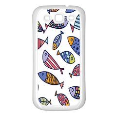 Love Fish Seaworld Swim Rainbow Cartoons Samsung Galaxy S3 Back Case (white)