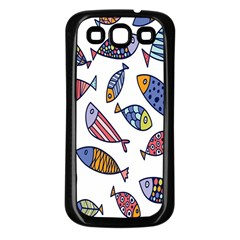 Love Fish Seaworld Swim Rainbow Cartoons Samsung Galaxy S3 Back Case (black)