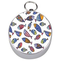 Love Fish Seaworld Swim Rainbow Cartoons Silver Compasses
