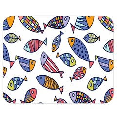 Love Fish Seaworld Swim Rainbow Cartoons Double Sided Flano Blanket (medium)