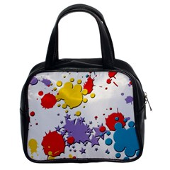 Paint Splash Rainbow Star Classic Handbags (2 Sides) by Mariart