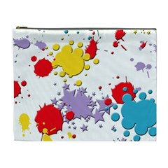 Paint Splash Rainbow Star Cosmetic Bag (xl)