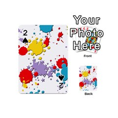 Paint Splash Rainbow Star Playing Cards 54 (mini)  by Mariart