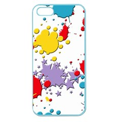 Paint Splash Rainbow Star Apple Seamless Iphone 5 Case (color) by Mariart