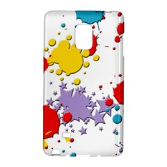 Paint Splash Rainbow Star Galaxy Note Edge by Mariart
