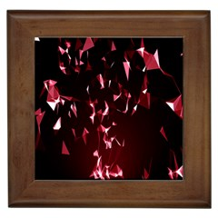 Lying Red Triangle Particles Dark Motion Framed Tiles by Mariart