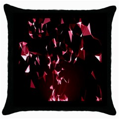 Lying Red Triangle Particles Dark Motion Throw Pillow Case (black) by Mariart