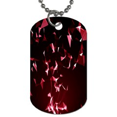Lying Red Triangle Particles Dark Motion Dog Tag (two Sides) by Mariart