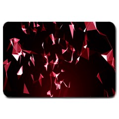 Lying Red Triangle Particles Dark Motion Large Doormat  by Mariart