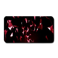 Lying Red Triangle Particles Dark Motion Medium Bar Mats by Mariart
