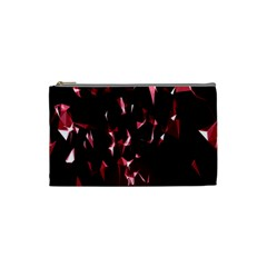 Lying Red Triangle Particles Dark Motion Cosmetic Bag (small)  by Mariart