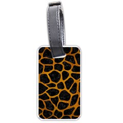 Skin1 Black Marble & Yellow Grunge Luggage Tags (one Side)  by trendistuff