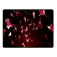 Lying Red Triangle Particles Dark Motion Double Sided Fleece Blanket (small)  by Mariart