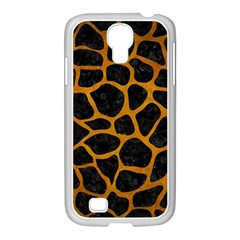 Skin1 Black Marble & Yellow Grunge Samsung Galaxy S4 I9500/ I9505 Case (white) by trendistuff