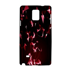 Lying Red Triangle Particles Dark Motion Samsung Galaxy Note 4 Hardshell Case by Mariart
