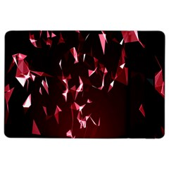 Lying Red Triangle Particles Dark Motion Ipad Air 2 Flip by Mariart