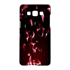 Lying Red Triangle Particles Dark Motion Samsung Galaxy A5 Hardshell Case  by Mariart