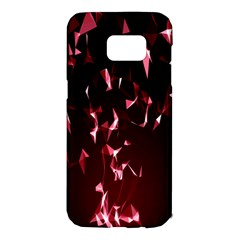 Lying Red Triangle Particles Dark Motion Samsung Galaxy S7 Edge Hardshell Case by Mariart
