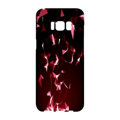 Lying Red Triangle Particles Dark Motion Samsung Galaxy S8 Hardshell Case  by Mariart
