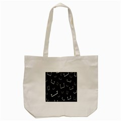 Pit White Black Sign Pattern Tote Bag (cream) by Mariart