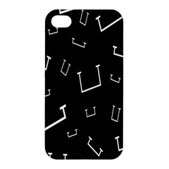 Pit White Black Sign Pattern Apple Iphone 4/4s Hardshell Case by Mariart