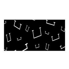 Pit White Black Sign Pattern Satin Wrap by Mariart
