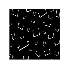 Pit White Black Sign Pattern Small Satin Scarf (square) by Mariart